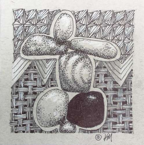 "INUKSHUK #3, DRAWING, 4"" X 4"", image size (framed: 10"" x 10""), $$65.0000"